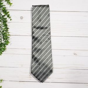 Escada Silk Gray Stripe Tie